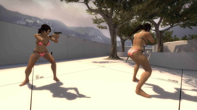 Lara croft bikini anime photo